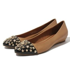 JEFFREY CAMPBELL Selby Stud Two Tone Flats 7.5